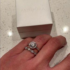 Pandora Ring Set size 4.5